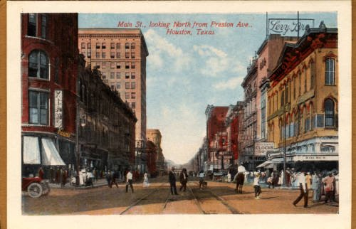 Houston at Main and Preston in the 1900s